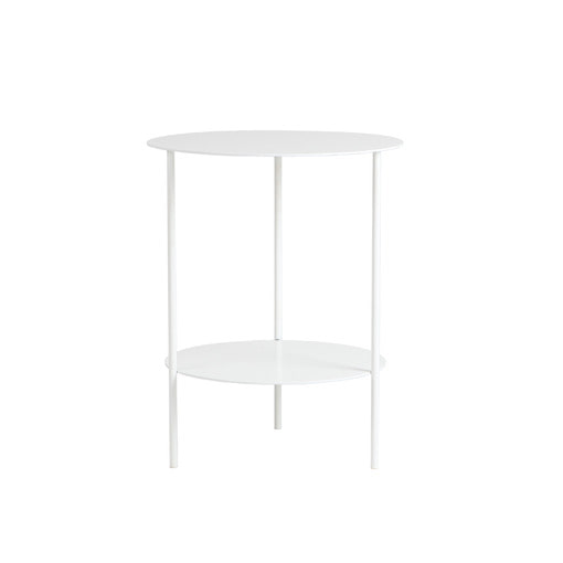Basic Round Side Table (White)